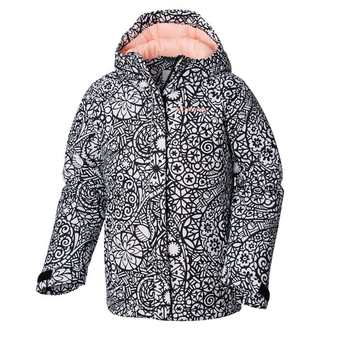 COLUMBIA GIRLS' HORIZON RIDE JACKET BLACK MODE LACE PRINT