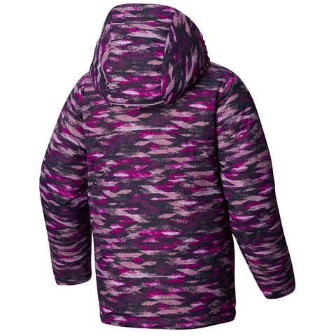 COLUMBIA GIRLS' HORIZON RIDE JACKET BRIGHT PLUM PRINT