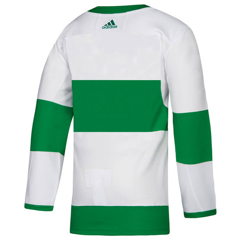 ADIDAS MEN'S TORONTO MAPLE LEAFS ST. PAT'S JERSEY WHITE/GREEN