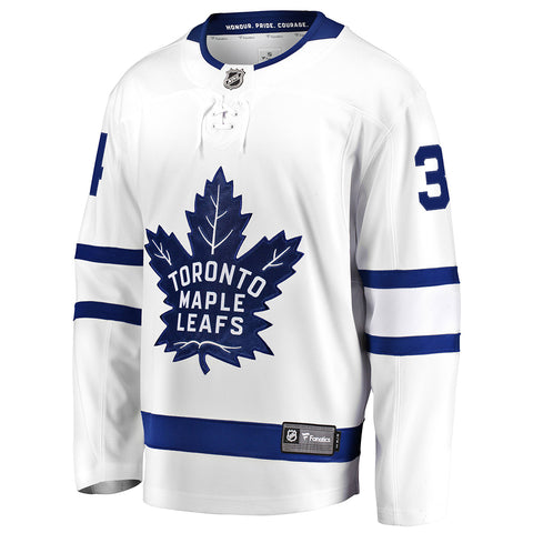 FANATICS MEN'S TORONTO MAPLE LEAFS AWAY MATTHEWS JERSEY WHITE