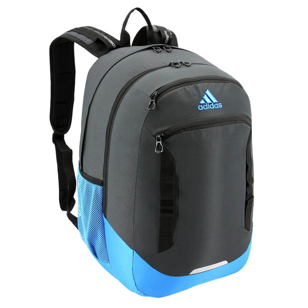 f6bc9ca40f ADIDAS EXCEL IV BACKPACK CARBON/BRIGHT BLUE/BLACK – National Sports