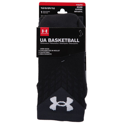 UNDER ARMOUR Y DRIVE BASKETBALL CREW YL BLK