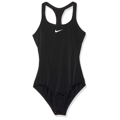 NIKE GIRL'S RACERBACK SOLID 1 PIECE BLACK