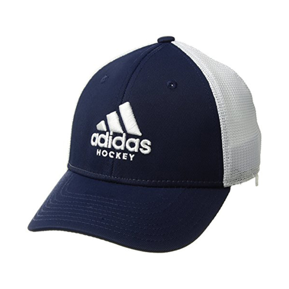 7d6e3342 ADIDAS YOUTH HOCKEY SIDELINE STRETCH FIT CAP BLUE/ WHITE – National ...
