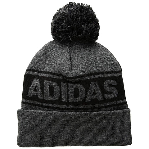 ADIDAS ADULT HOCKEY POM KNIT GRAY BLACK edf7bf2bdd89