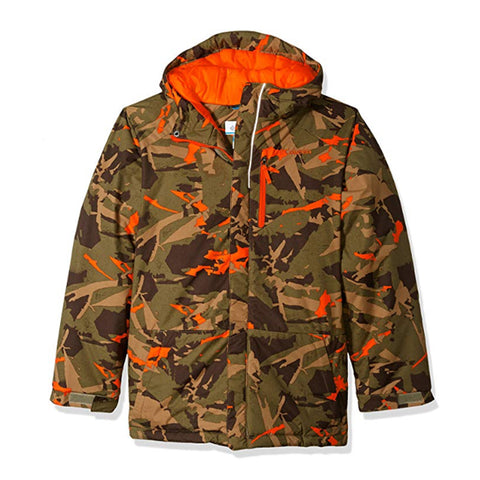 COLUMBIA BOYS' LIGHTNING LIFT JACKET SAGE WOODSY CAMO