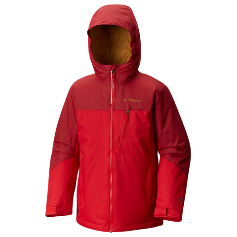COLUMBIA BOYS' DOUBLE GRAB JACKET MOUNTAIN RED