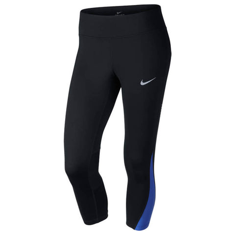NIKE WOMEN'S POWER RACER CROP TIGHT BLACK/BLUE