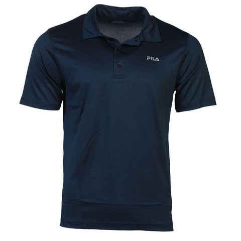 FILA MEN'S PERFORMANCE HEATHER POLO NAVY