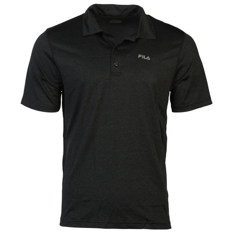 FILA MEN'S PERFORMANCE HEATHER POLO BLACK