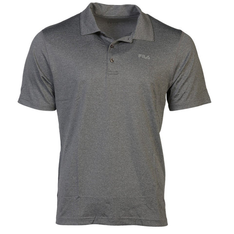 FILA MEN'S PERFORMANCE HEATHER POLO GREY
