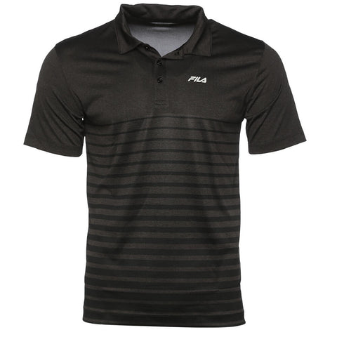 FILA MEN'S VISTA POLO BLACK HEATHER