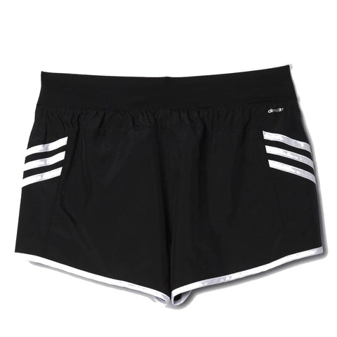 ADIDAS WOMEN'S ULTIMATE WOVEN 3 STRIPE SHORT BLACK/WHITE