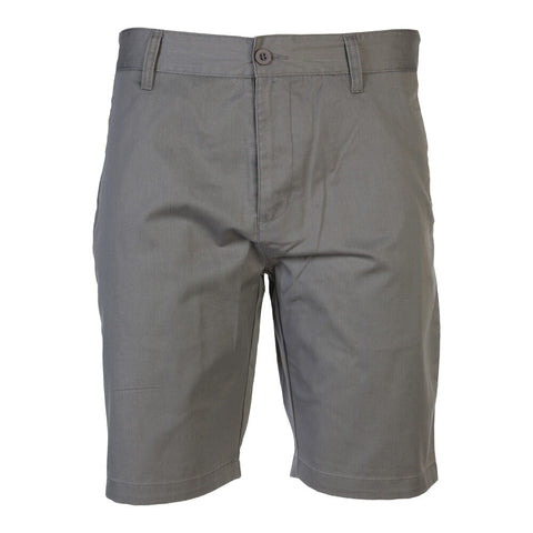 BURNSIDE MEN'S WOVEN SHORT GREY