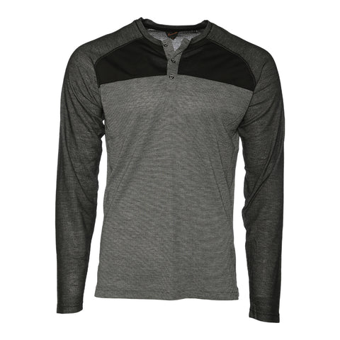BURNSIDE MEN'S KNIT LONG SLEEVE TOP GREY
