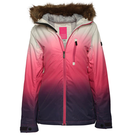 POWDER ROOM WOMEN'S GLADES INSULATED JACKET GRADIENT 3 PINK