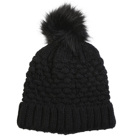 GREAT NORTHERN WOMEN'S PINEAPPLE KNIT TOQUE BLACK