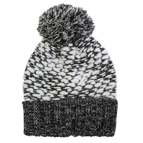 GREAT NORTHERN WOMEN'S REVERSE RIB KNIT TOQUE  BLACK