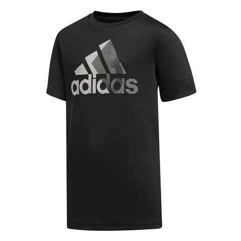ADIDAS BOYS' BADGE OF SPORT 3 TOP BLACK