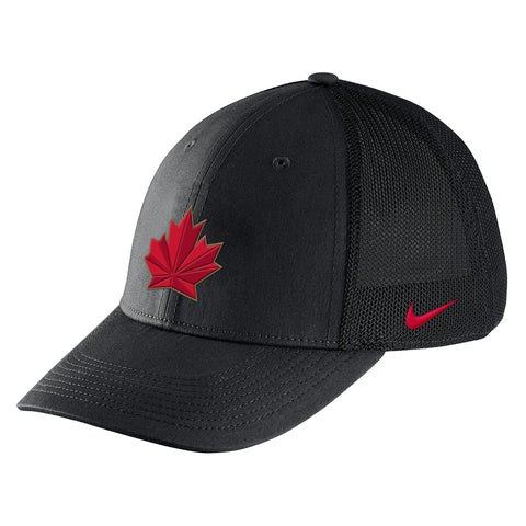 NIKE MEN'S TEAM CANADA AREO MESH SWOOSH FLEX CAP BLACK