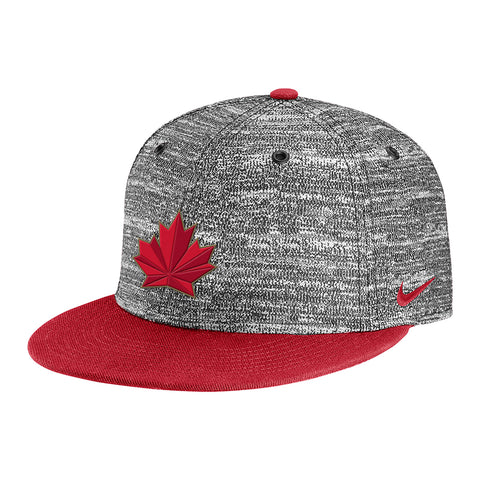 NIKE MEN'S TEAM CANADA TRUE HEATHERED SNAPBACK RED