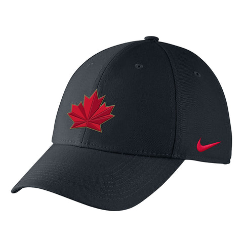 NIKE YOUTH TEAM CANADA SWOOSH FLEX HAT BLACK