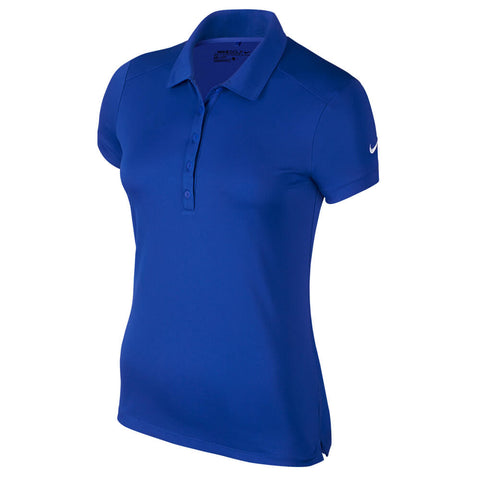 NIKE WOMEN'S NK DRY POLO SHORT SLEEVE TOP GAME ROYAL/WHITE