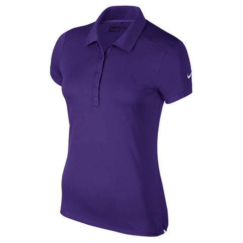 NIKE WOMEN'S NK DRY POLO SHORT SLEEVE TOP COURT PURPLE/WHITE