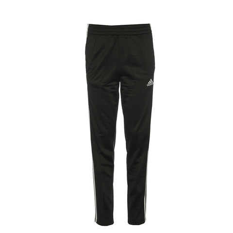 ADIDAS BOYS' TRICOT 3 STRIPE PANT GRAY FIVE/BLACK