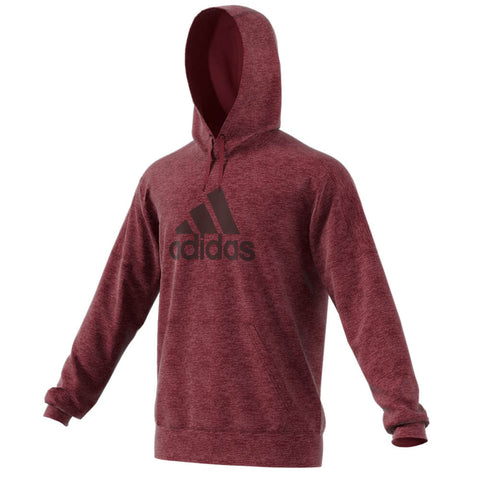 ADIDAS MEN'S TEAM ISSUE FLEECE LOGO HOODY NOBLE MAROON MELANGE