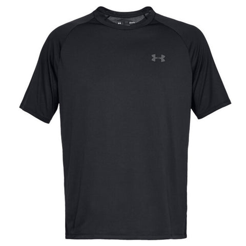 UNDER ARMOUR MEN'S TECH SHORT SLEEVE TOP BLACK