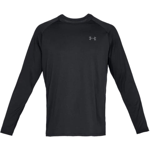 UNDER ARMOUR MEN'S TECH LONG SLEEVE TOP BLACK