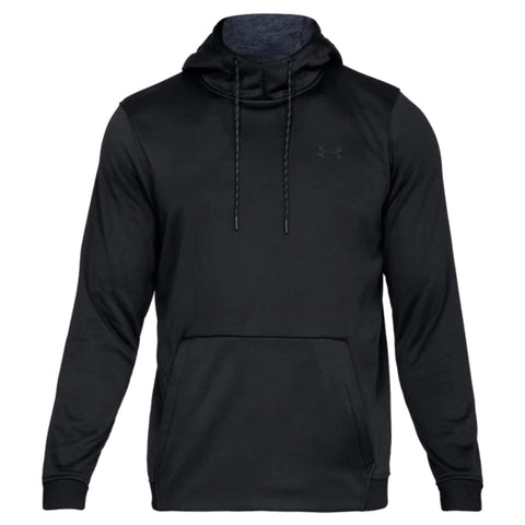 UNDER ARMOUR MEN'S ARMOUR FLEECE PULLOVER HOODY BLACK
