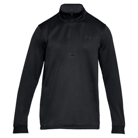 UNDER ARMOUR MEN'S ARMOUR FLEECE 1/2 ZIP TOP BLACK