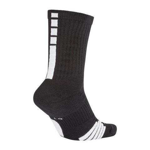 NIKE YOUTH SMALL ELITE BASKETBALL CREW SOCKS BLK/WHT BACK