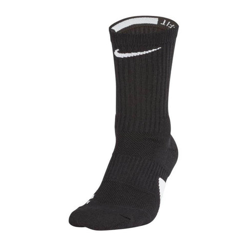 NIKE YOUTH SMALL ELITE BASKETBALL CREW SOCKS BLK/WHT