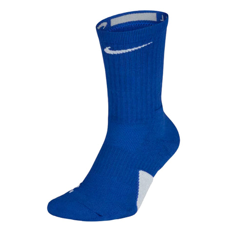 NIKE YOUTH SMALL ELITE BASKETBALL CREW SOCKS ROYAL/WHITE