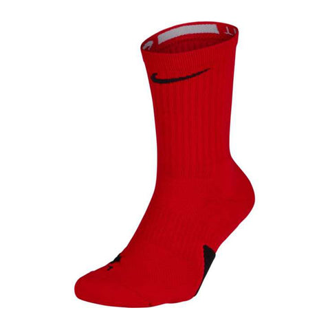 NIKE YOUTH SMALL ELITE BASKETBALL CREW SOCKS RED/BLACK
