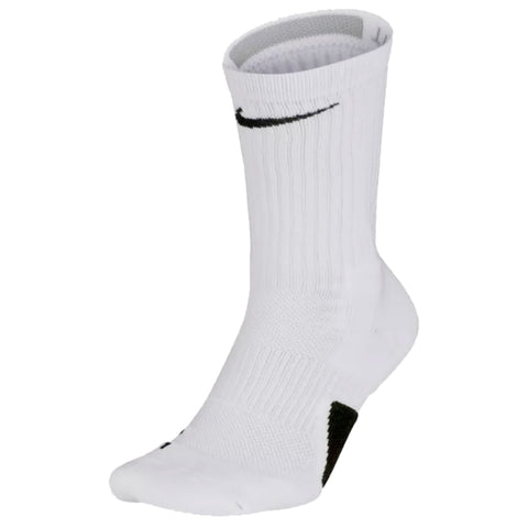 NIKE YOUTH SMALL ELITE BASKETBALL CREW SOCKS WHITE/BLACK