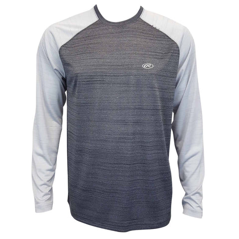 RAWLINGS MEN'S RAGLAN LONG SLEEVE TOP BLACK