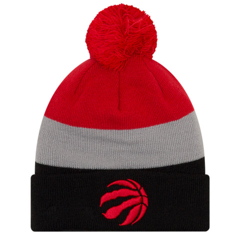 NEW ERA MEN'S TORONTO RAPTORS TRIBLOCK POM BEANIE