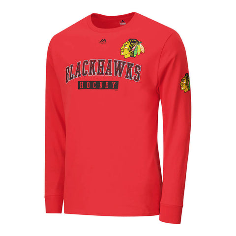 MAJESTIC MEN'S CHICAGO BLACKHAWKS KEEP SCORE LONG SLEEVE TOP