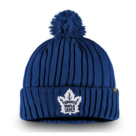 FANATICS MEN'S TORONTO MAPLE LEAFS CORE CUFFED KNIT POM BEANIE