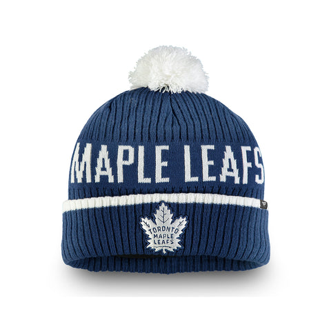 FANATICS MEN'S TORONTO MAPLE LEAFS ICONIC STROKE CUFFED KNIT BEANIE