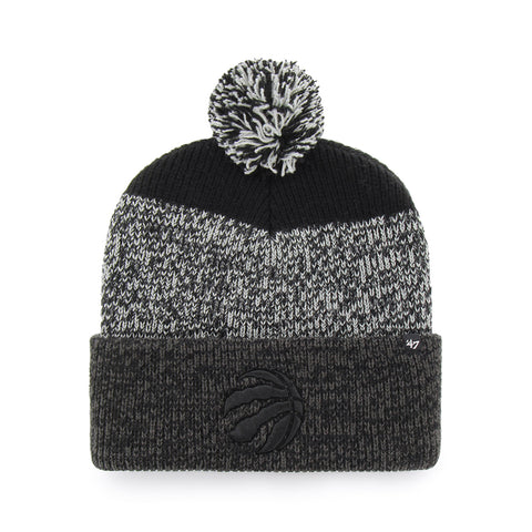 47 BRAND MEN'S TORONTO RAPTORS STATIC CUFF KNIT BEANIE BLACK