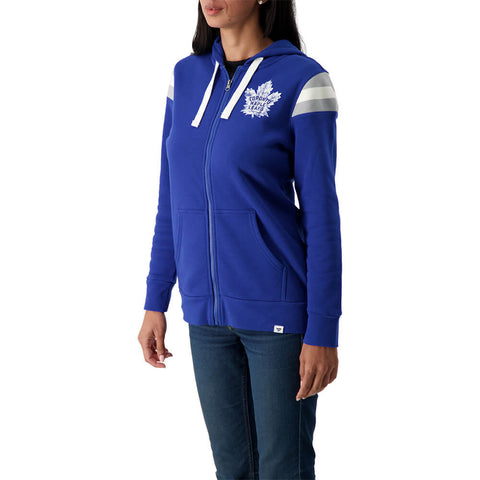 FANATICS WOMEN'S TORONTO MAPLE LEAFS RETRO STRIPE FULL ZIP HOODY
