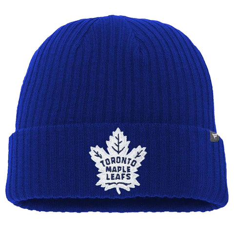 FANATICS MEN'S TORONTO MAPLE LEAFS CORE KNIT HAT BLUE