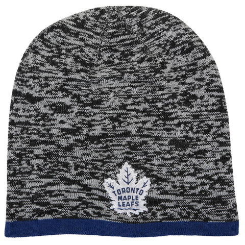 FANATICS MEN'S TORONTO MAPLE LEAFS STATIC SKULL KNIT DARK GREY HEATHER