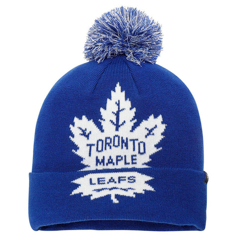 FANATICS MEN'S TORONTO MAPLE LEAFS ICONIC TEAM POP KNIT HAT BLUE
