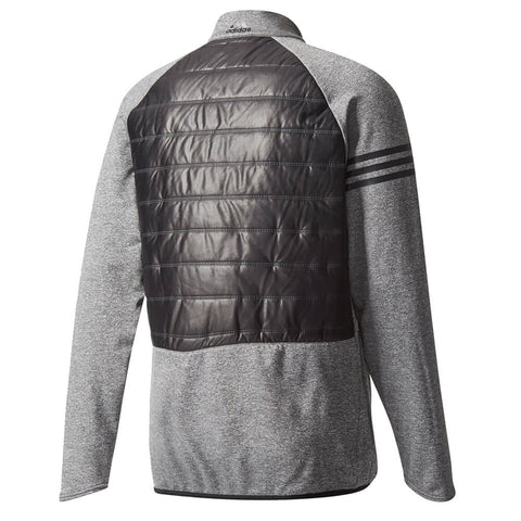 ADIDAS MEN'S CLIMAHEAT QUILTED 1/2 ZIP JACKET BLACK